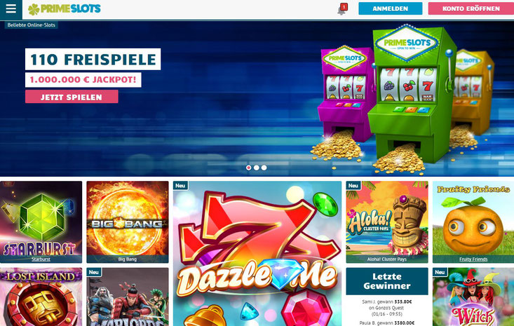 Casino Lobby von PrimeSlots