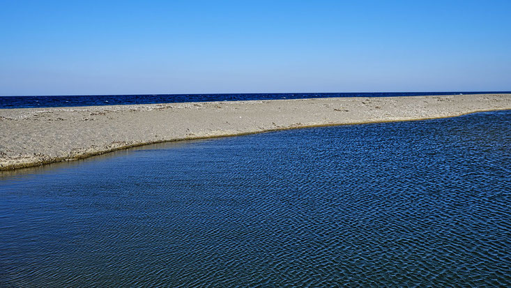 Mathieu Guillochon photographe, Grèce, Eubée, Mourteri, voyage, mer, rivage, littoral, rivière, été, bleu.