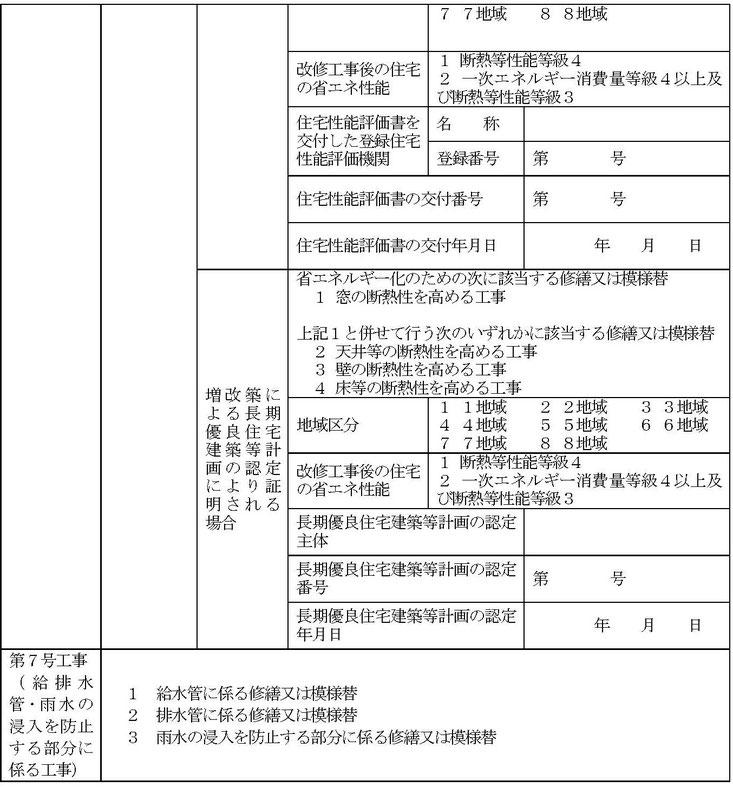 住宅用家屋証明(買取再販住宅)取得のための増改築等工事証明書(国交省HPより)