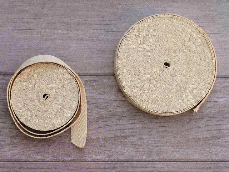用途として、グラニーバックの持ち手、エプロンや巾着の紐などに使用することもできます。