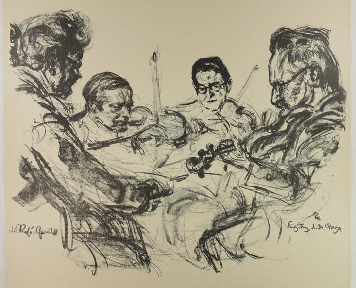 Emil Stumpp: Rosé-Quartett 1926. Foto privat.