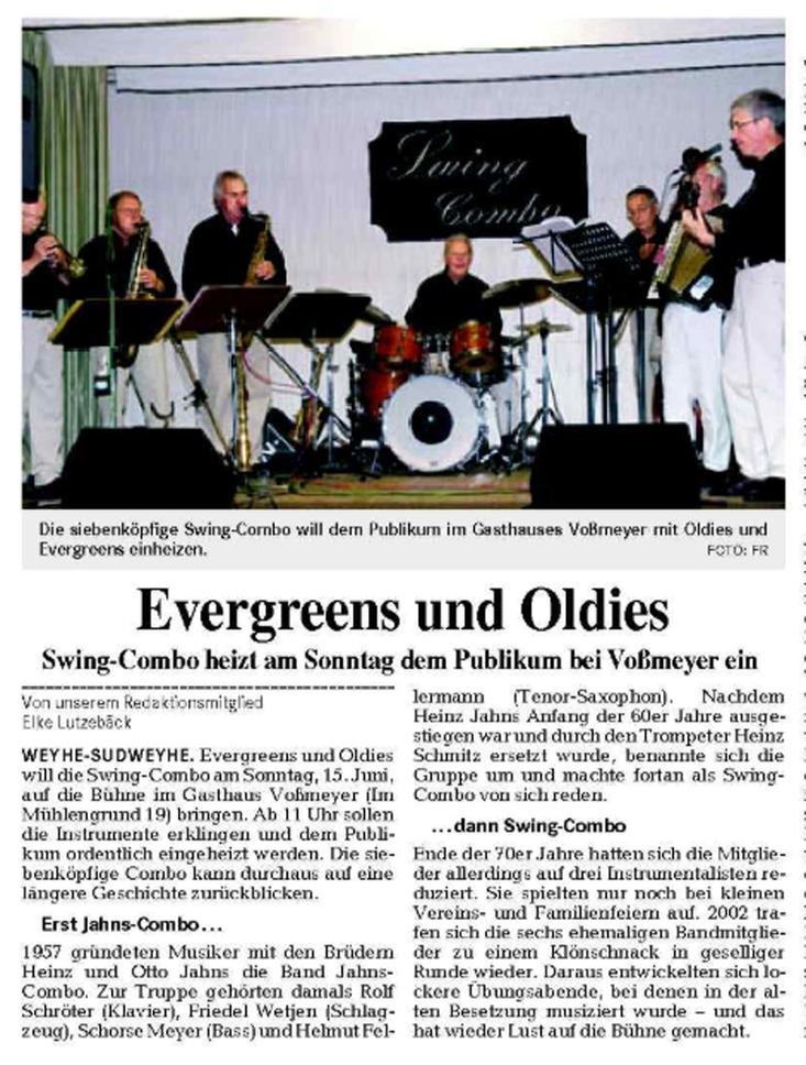 Weser-Kurier vom 21. 5. 2008
