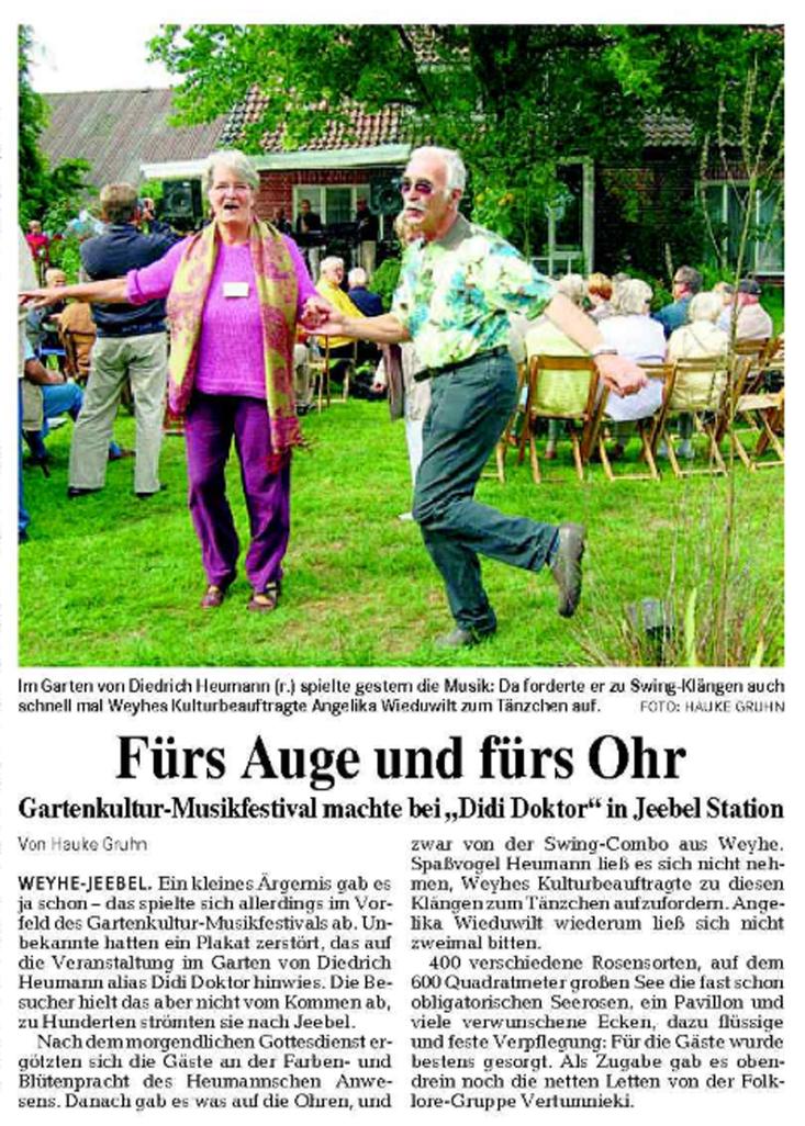 Weser-Kurier vom 25. 8. 2008