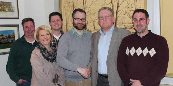 Der neue Vorstand (von links): Jens Less, Wenke Langreder, Hendrik Dannenbrink, Björn Giesler, Hermann Springfeld und Daniel Voigtland. Quelle: privat