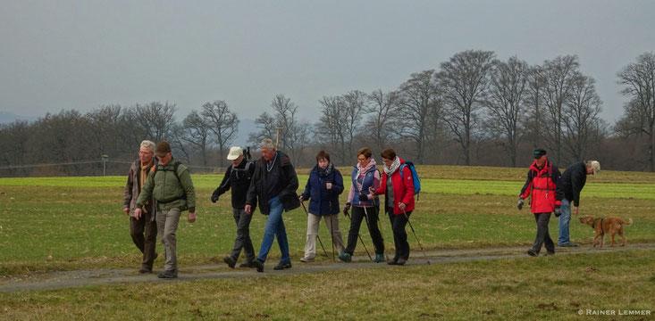 Donnerstags-Wandergruppe unterwegs um Hachenburg