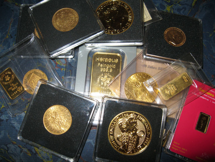 Konvolut Goldmünzen & Goldbarren