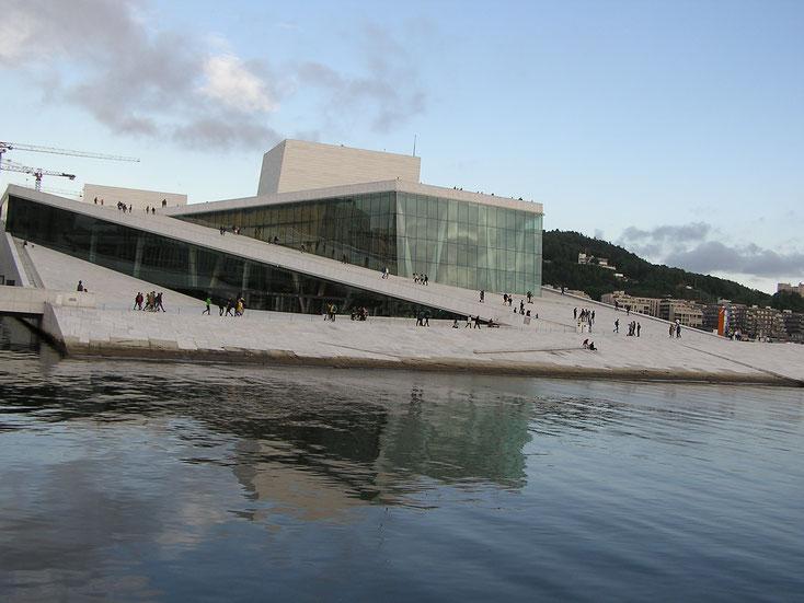 Unsere Fischerreise war natürlich in erster Linie eine Bildungsreise: Mit Besuch der Hauptstadt Oslo ...