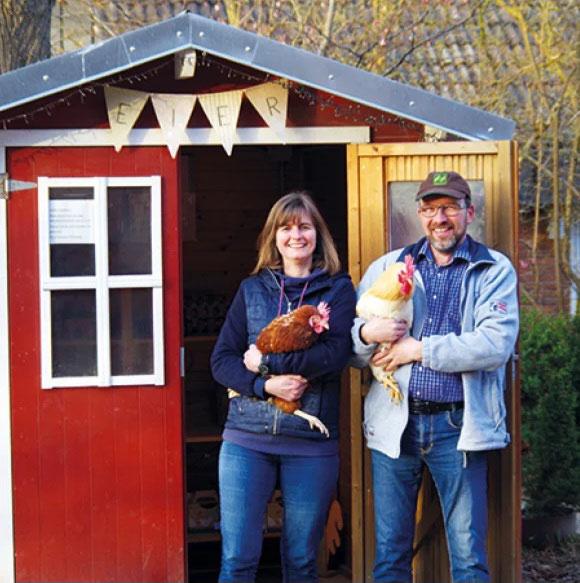 Das Eierhäuschen mit Familie Frohberg