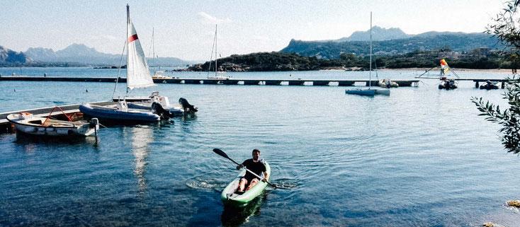 Das Gumotex Solar macht auch alleine Spaß zum paddeln