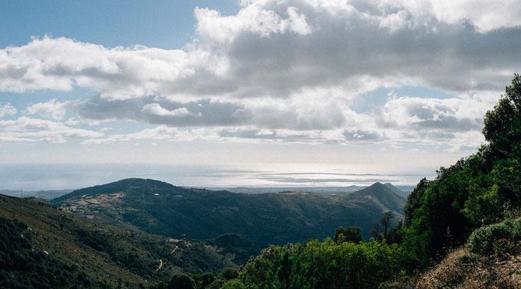 Aussicht auf die Ostküste auf Sardinien