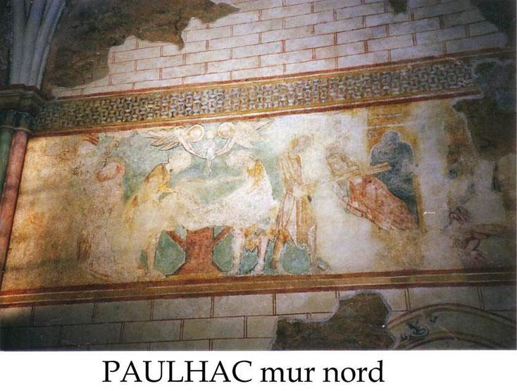 Fresques de Paulhac mur nord