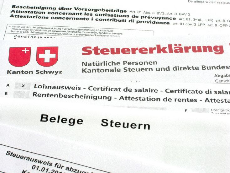 Steuererklärung Schwyz; Sozialdetektei Schweiz, Detektiv Zürich, Detektei Zürich, Privatdetektiv