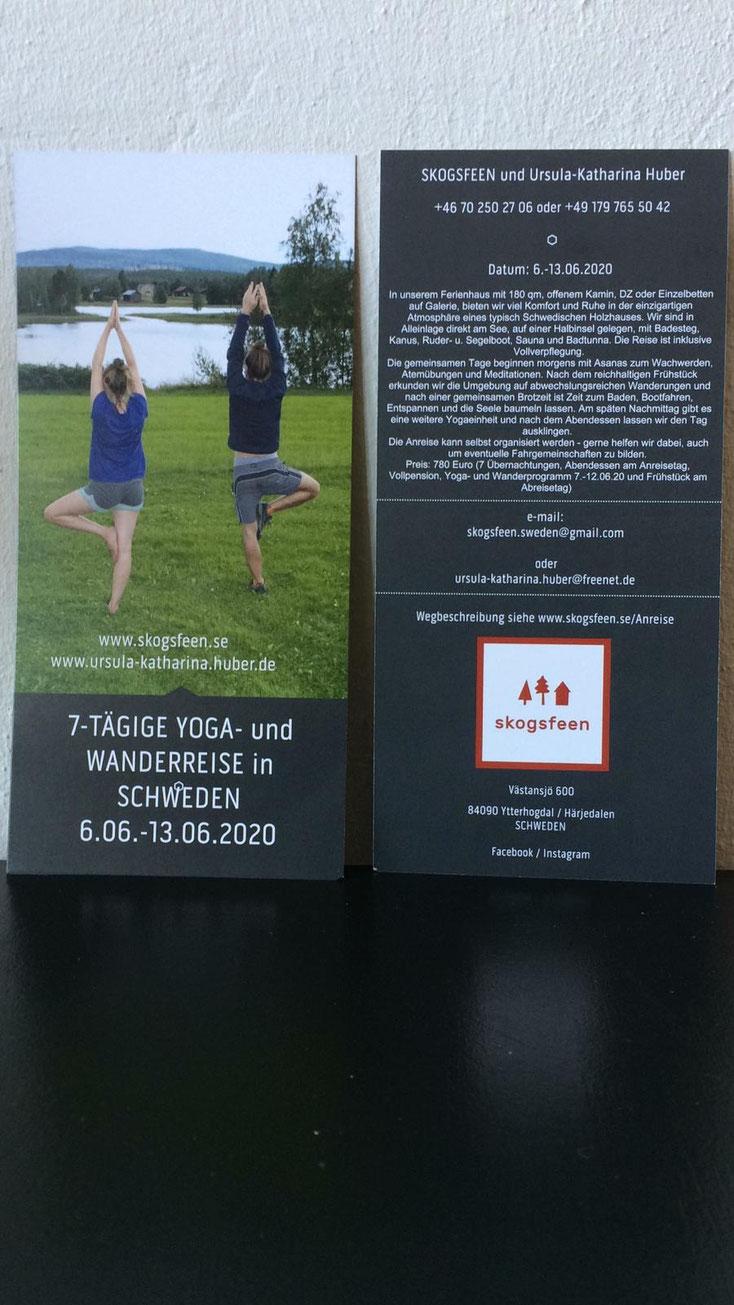 Yoga Wandern in Schweden - zur Mitternachtssonne