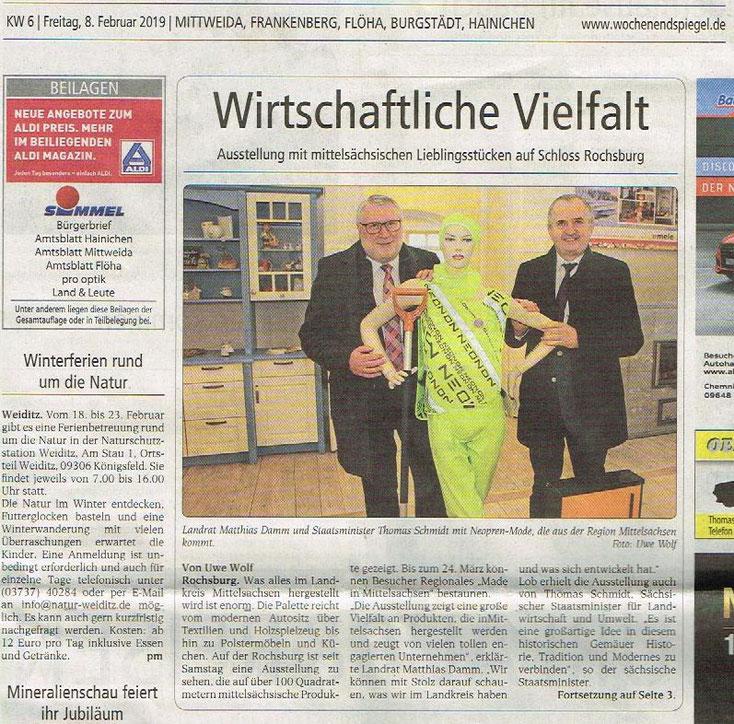 """Neonon auf der Rochsburg, regionale Produktschau """"Lieblingsstücke"""" als Sonderausstellung 2019"""