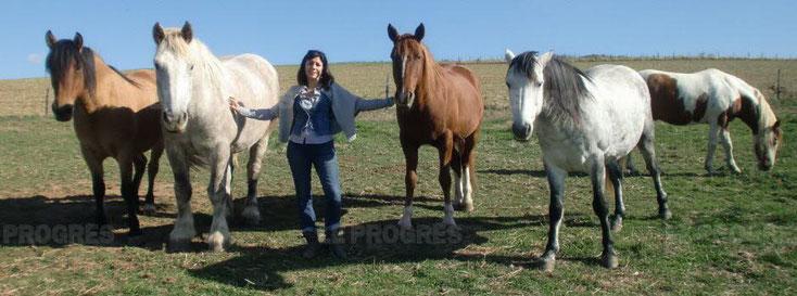 Photo de Claire et ses chevaux