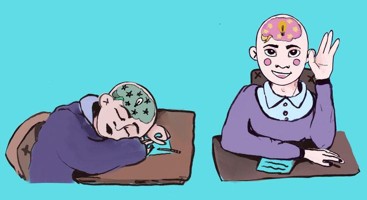 Если Ваш ребенок спит на уроках, то спит его мозг, помочь проснуться поможет работа с нейропсихологом или дефектологом