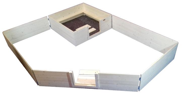 Wurfbox von welpen-wurfkiste.de mit Auslauf, erweiterbar und massiv