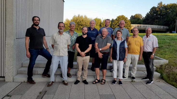 Aktueller und ehemaliger Vorstand (von links nach rechts): Oliver Hartstang, Albrecht Gabler, Monika Strässer, Max Perlinger, Willi Knorr, Albert Schlipf, Joel Fähnle, Heidi Berchner, Werner Pfund, Helmut Aufrecht, Götz Schrembs.