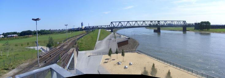Aussicht am Rheinpark Duisburg