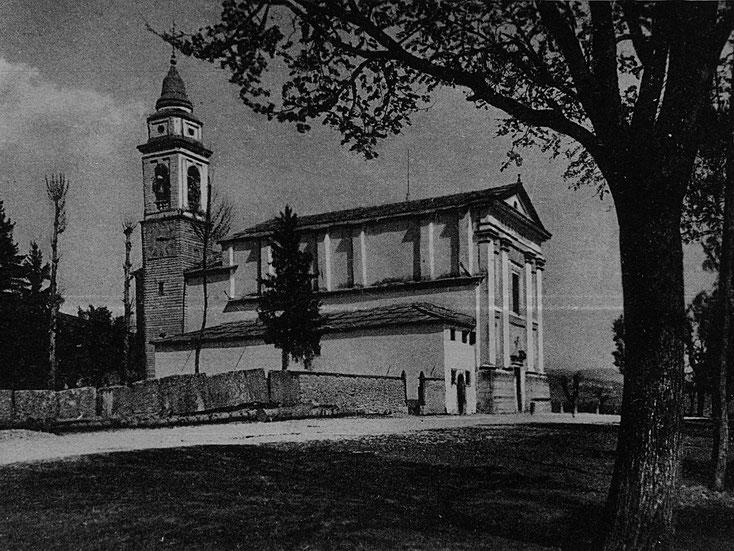 La stupenda chiesa, come appariva in una immagine degli anni '40