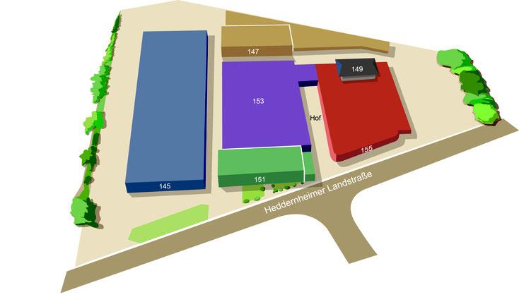 Lageplan Heddernheimer Höfe