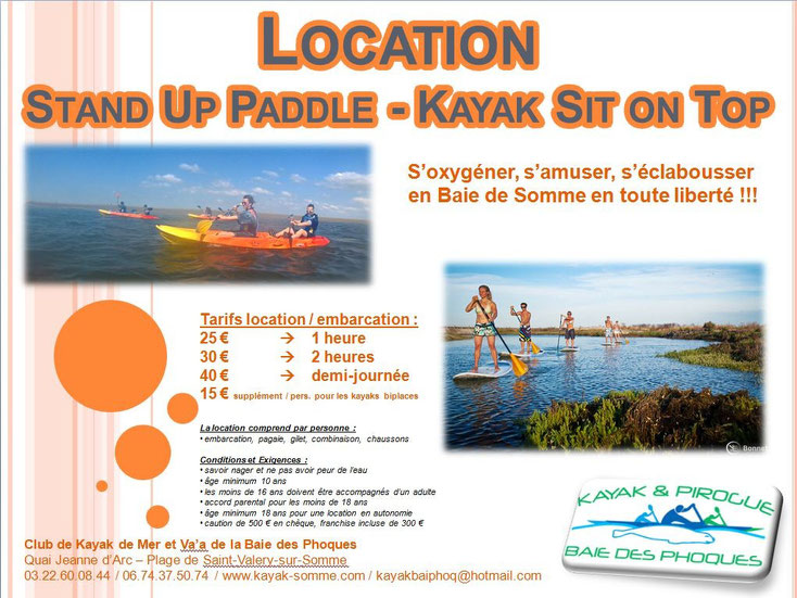 Location Stand Up Paddle Sup - CKMV Baie des Phoques
