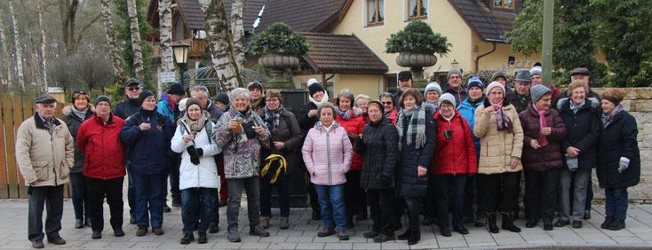 Winterwanderung 2018  -  Treffpunkt am Parkplatz Birkenheide   -   Foto: Hans Koch