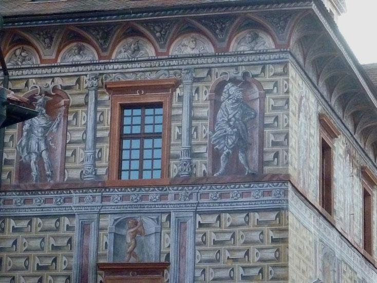 Gebäudeteil im Schloss Krumau