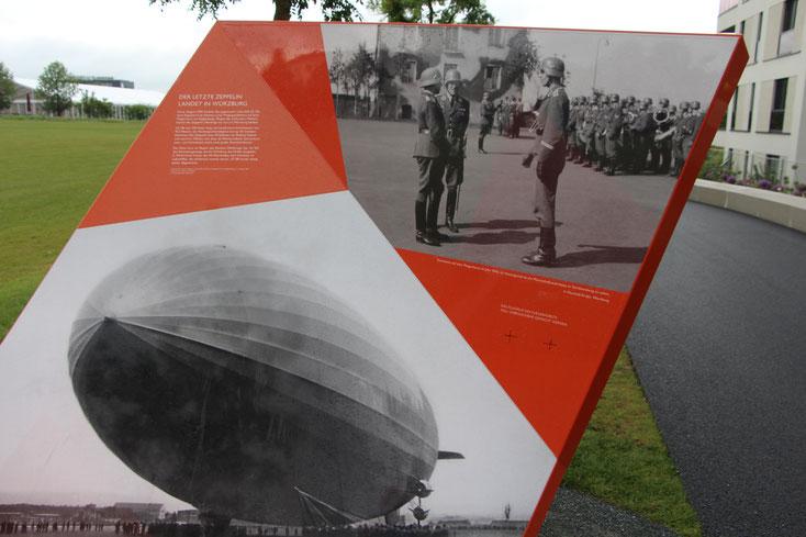 Foto:  Hans Koch  -  Informationstafel auf dem Gartenschaugelände zur Geschichte des Areals