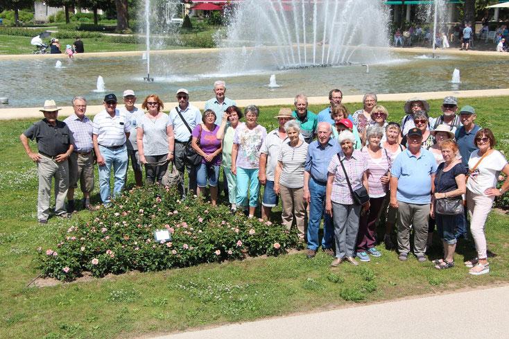 Im Kurpark von Bad Kissingen gab es noch die Möglichkei für ein Gruppenfoto.