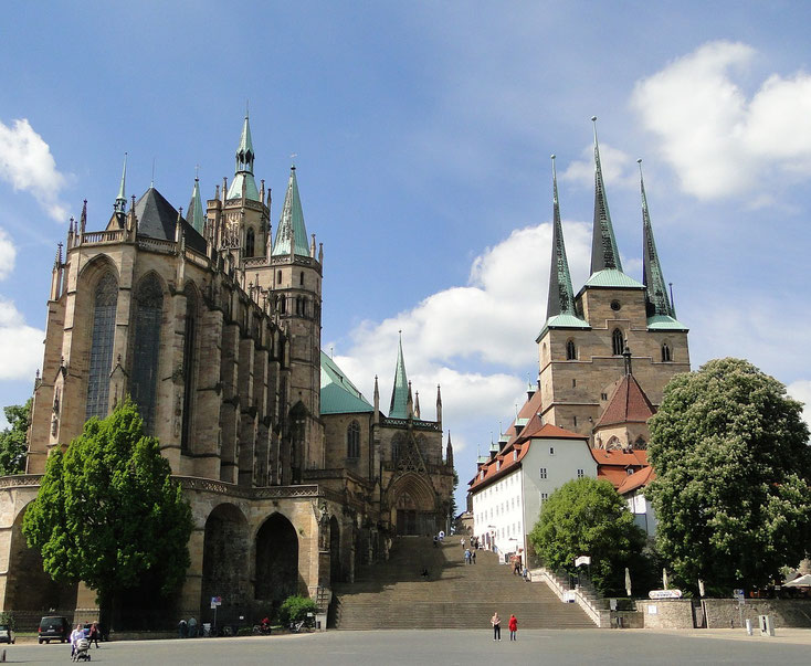 Auch der Dom und die Severikirche waren Teil unseres Besuchprogramms in Erfurt