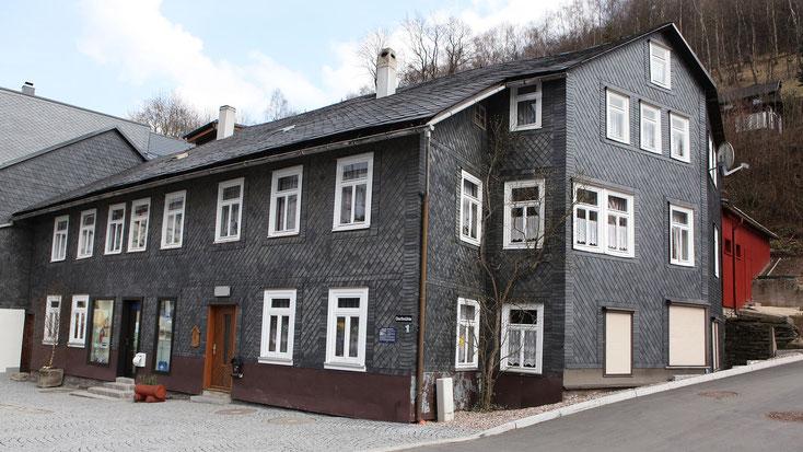 Ehemalige Dorfmühle in Lauscha - Foto: Störfix, Lizenz: Creative Commons by-sa 3.0 de, CC BY-SA 3.0 de