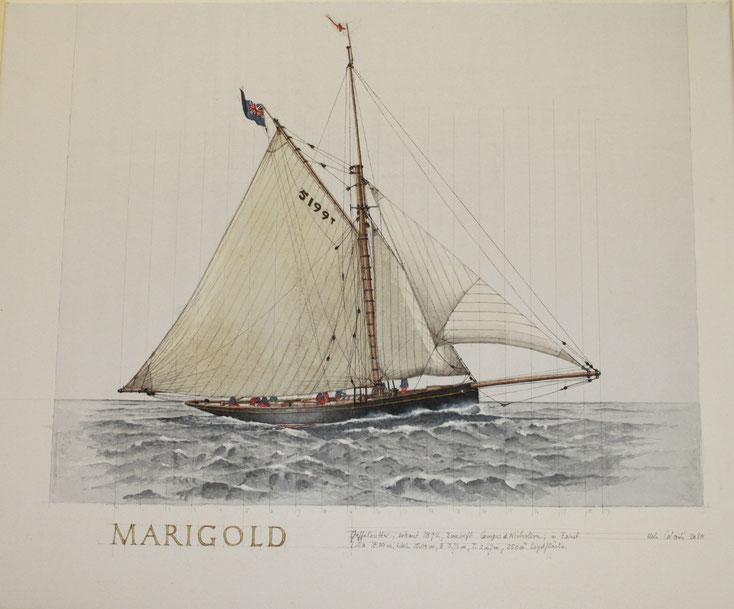 """Marigold""  acryl auf Leinwand  50 x 60 cm"