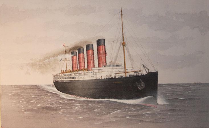 """RMS """"Lusitania""""  acryl auf Leinwand 50 x 80 cm"""