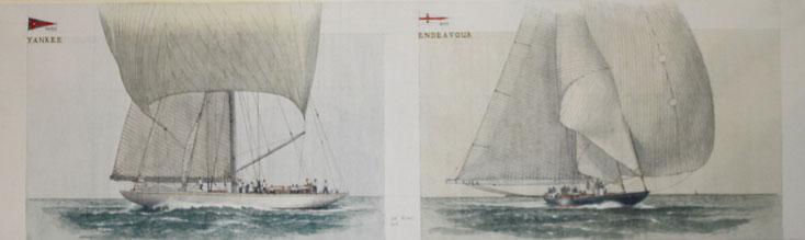 """""""Yankee"""" und """"Endeavour"""" acryl auf Leinwand 30 x 100 cm unscharfe Foto"""
