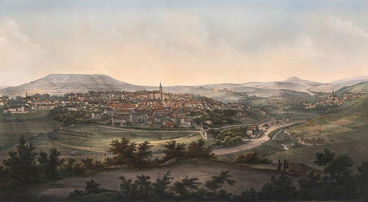 Annaberg nach 1866 von der Nordwestseite