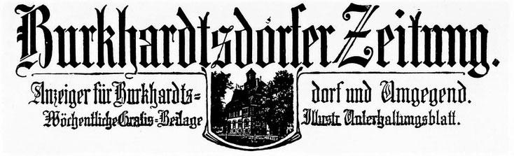 Die Burkhardtsdorfer Zeitung um 1912