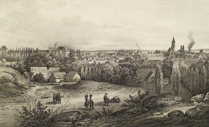 Frohburg auf einer Lithographie um 1850