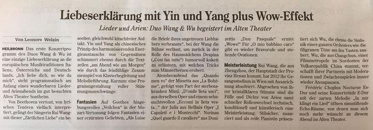 Heilbronner Stimme, 11. Oktober 2016