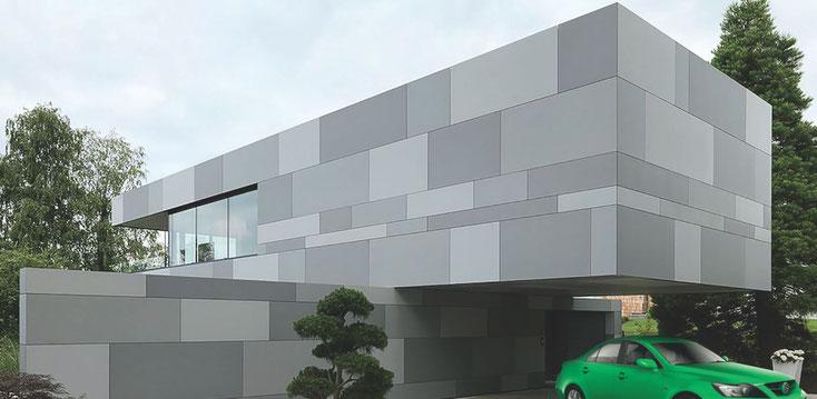 EFH mit Stein-/PV-Fassade, GH-System