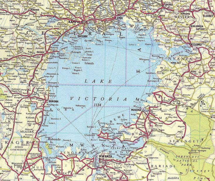 Mappa Lago Vittoria
