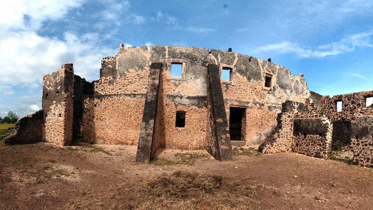 Makutani Palace sull'isola di Kilwa Kisiwani, in Tanzania.