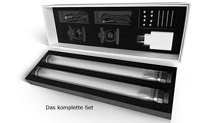 LED Beleuchtung Set für Gastronomie Sonnenschirme mit Akku