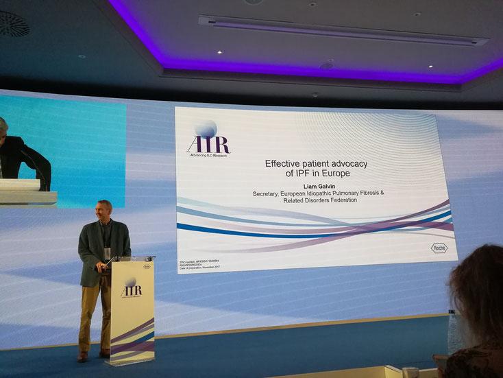 Ein wesentlicher Teil der Veranstaltung: Die effektive IPF Patientenvertretung in Europa