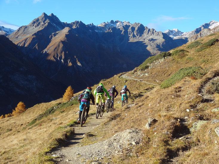 Mountainbiketour mit Bikeguide auf die Alp Laret in Ftan-Scuol