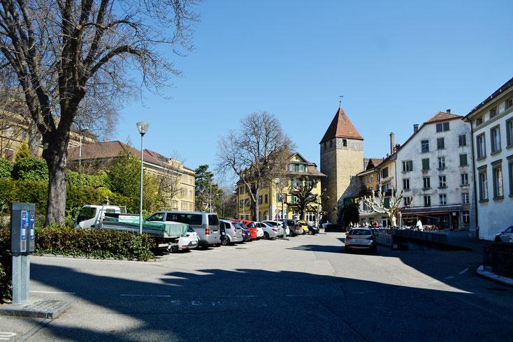 Parkplaetze am Rosius-Platz, 2019, Biel-Bienne, Bieler Altstadt