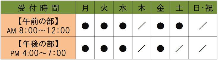 愛知県丹羽郡扶桑町高雄定松90-1 山田整形外科 診療時間表