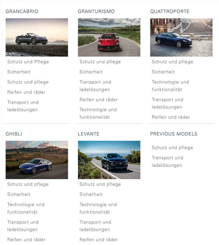 Maserati Autozubehör