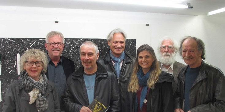 Der Vorstand der Visarte Solothurn, von links nach rechts: Ursula Pfister; Claude Barbey, Präsident, Peter Steinmann; Norbert Eggenschwiler; Adriana Boccard; Fritz Breiter; Heini Bürkli.