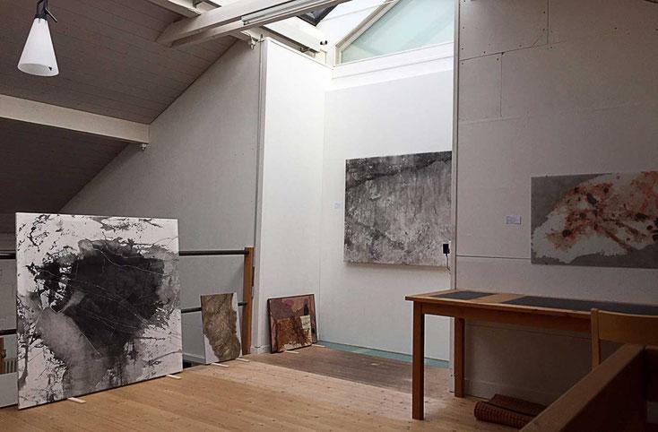 Atelieransicht Ulrich Studer, Rüttenen